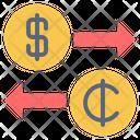 Usa Ghana Currency Icon