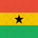 Ghana Flag World Icon