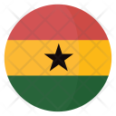 Ghana Flag Country Icon