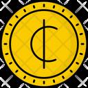 Ghana Cedi Coin Money Icon