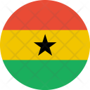 Ghana Flag World Icon