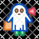 Halloween Ghost Celebration Icon