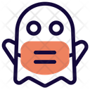 Ghost Emoji With Face Mask Emoji Icon