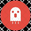 Ghost Halloween Clown Icon