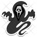 Ghost Demon Mouth Halloween Icon
