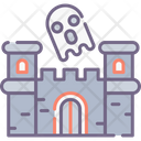 Ghost Castle Haunted House Castle Icon