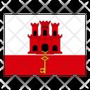 Gibraltar Flag Flags Icon
