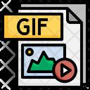Gif File File Folder Icon