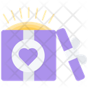 Gift Box Love Icon