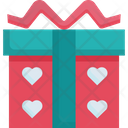 Gift Box Valentine Icon