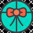 Circle Gift Box Icon