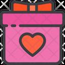 Love Gift Box Icon