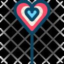 Gift Heart Lollipop Icon