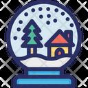 Globe Snow Winter Icon