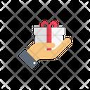 Gift Present Hand Icon