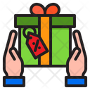 Gift Hand Tag Icon