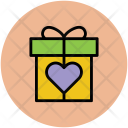 Gift Box Heart Icon