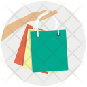 Gift Bags Hand Icon
