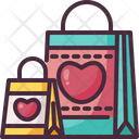 Gift Bag Valentines Day Shopping Bag Icon