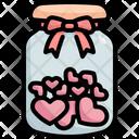 Bottle Heart Love Icon