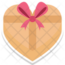 Gift Box Happiness Heart Shaped Icon