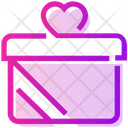 Valentine Day Gift Box Heart Icon