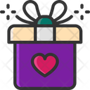 M Gift Gift Box Love Gift Icon