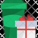 Gift Box Present Takeway Coffee Icon