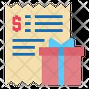 Gift Box Bill Invoice Icon