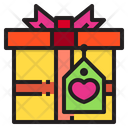 Gift Box Lable Present Icon