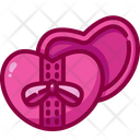 Gift Box Valentines Day Hearts Icon