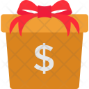 Cash Gift Box Icon
