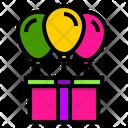 Gift Box Balloon Icon