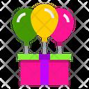 Gift Box Balloon Gift Box Balloon Icon