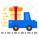 Gift Box Delivery Car Icon