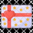 Valentine Gift Card Gift Card Gift Voucher Icon