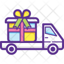 Gift Delivery Van Icon