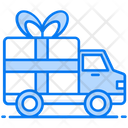 Gift Delivery Delivery Van Shipping Truck Icon