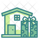 Gift Delivery House Giftbox Icon