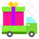 Gift Delivery Delivery Truck Delivery Service Icon