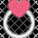 Gift Femininity Girlish Heart Ring Icon