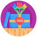 Surprise Gift For Dad Flowers Icon