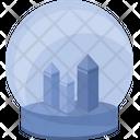 Gift Glass Round Icon