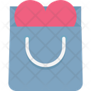 Gift Offer Heart Sign Shopping Bag Icon