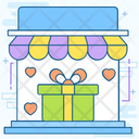Gift Shop Purchasing Gifts Gifts Outlet Icon