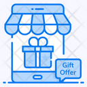 Gift Shop Gift Store Online Shop Icon
