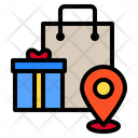 Shopping Pin Locations Icon
