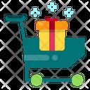 Gift Box Shopping Cart Present Icon