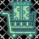 Gift Shopping Cart Giftbox Icon