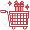 Gift Shopping Gift Shopping Cart Icon